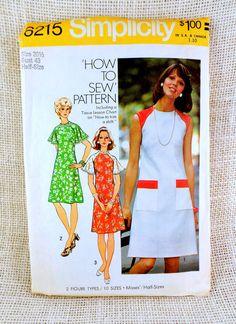 Vintage Pattern Simplicity 6215 1960s A by momandpopcultureshop