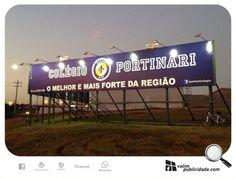 Painél iluminado é outra coisa, além de garantir o dobro de impacto. Novo painél em lona de 3x18m iluminado do Colégio Portinari de frente para SP 255 em frente a Massey Fergunson em Avaré. Milhares de impactos/veículos diários! #colegioportinari #portinari #avare #valim #placa #brasil