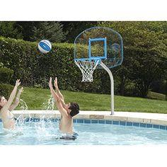 Dunnrite Junior Clear Hoop Swimming Pool Basketball Hoop ...