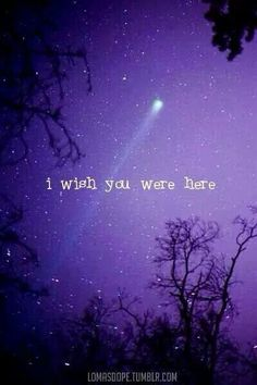 I wish you were here...