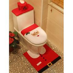 SHARE & Get it FREE | 3PCS Christmas Santa Toilet Decoration Closestool Cushion Cover SetFor Fashion Lovers only:80,000+ Items • FREE SHIPPING Join Twinkledeals: Get YOUR $50 NOW!