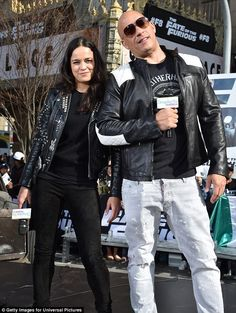 Hustle: Vin Diesel, 49, and Michelle Rodriguez, 38, were promoting the action-packed street-racing film in New York City today
