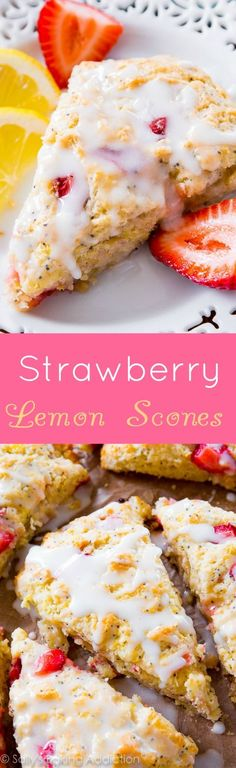 If you're looking for the perfect scone, this is it! We LOVE this recipe for Strawberry Lemon Poppy Seed Scones!