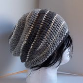 Ravelry: Sean Wide Striped Slouchy pattern by Kristina Olson free crochet 10 ply