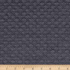 Telio Double Knit Quilt Patch Grey from @fabricdotcom  This soft yet stable double knit fabric features a dimensional quilted face and of smooth back. This fabric features a soft hand and has a 20% stretch across the grain and 5% vertical stretch. Use this fabric to create unique structured knit tops, jackets, dresses or skirts with this quilted knit fabric.