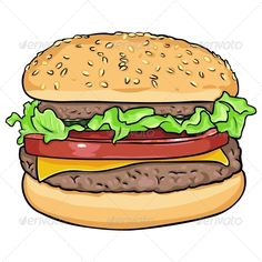 Vector Cartoon Hamburger #GraphicRiver file types: jpg, eps Created: 12October13 GraphicsFilesIncluded: JPGImage #VectorEPS Layered: No MinimumAdobeCSVersion: CS Tags: app #cafeteria #cartoon #cheese #cheeseburger #clipart #computergraphic #design #draw #eating #fastfood #fastfoodicon #food #hamburger #icon #illustration #image #isolated #lettuce #nobody #object #paint #restaurant #sign #snack #symbol #takesnak #unhealthy #vector #whitebackground