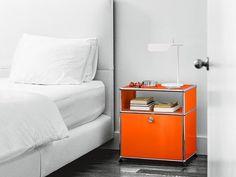 USM HALLER NIGHT TABLE Bedside table by USM Modular Furniture design Fritz Haller