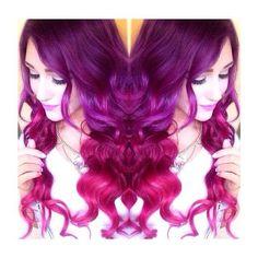 Purple/Fuchsia  hair