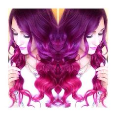 Purple/Fuchsia  hair
