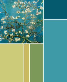 Color Scheme to: Vincent van Gogh - Branches with almond blossom; 1890.
