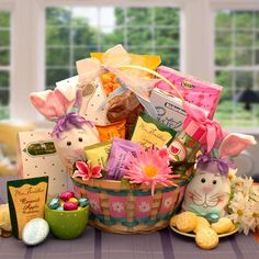 Deluxe easter gift basket this enormous willow basket is the perfect gift basket its an easter celebration sweet treats gift basket negle Gallery