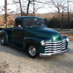 1948 Chevy truck- This reminds me of my the  truck my Aunt taught me to drive when I was 16.
