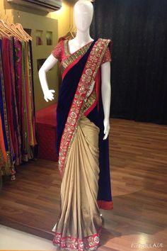 Kalamkari Saree, Lehenga Saree, Silk Sarees, Balochi Dress, Saree Dress, Saree Blouse Patterns, Saree Blouse Designs, Indian Beauty Saree, Indian Sarees