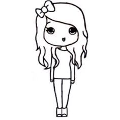 Chibi Templates And Jasmine Easy Drawings Kawaii Cartoon
