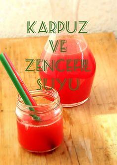 If you visit Turkey you have to try the KARPUZ VE ZENCEFIL SUYU