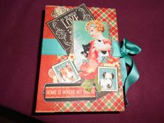 graphic 45 paper collection raining cats and dogs mini album hand made by Paola Botero
