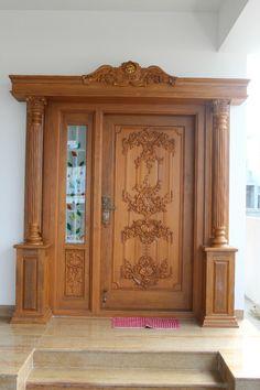 extraordinary cool door home design 1 - kinal. House Design, Front Door Design Wood, Door Gate Design, Pooja Room Door Design, Door Glass Design, House Front Design, House Main Door Design, Wood Doors Interior, Front Door Design