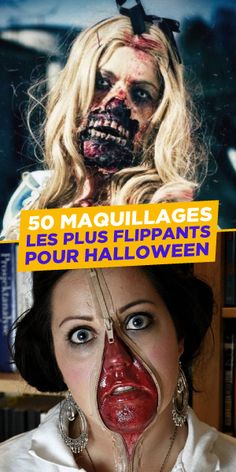 En général, le maquillage c'est pas compliqué mais pour Halloween, c'est du boulot et tout un art. Alors, inspirez-vous et à vos pinceaux ! #Halloween #Maquillage Maquillage Halloween, Halloween Ideas, Carnival, Halloween Face Makeup, Paint Brushes, Everything, Carnavals, Halloween Prop