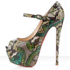 Christian Louboutin Lady Highness  Python Pumps Green AUSTRALIACHRISTIANLOUBOUTINOUTLET.COM