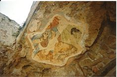 Salamis Ruins fresco..Farmagusta, Cyprus.