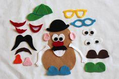 Mr. Potato Head Quiet book page idea