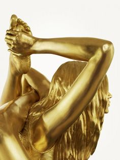 Siren for Marc Quinn, by Thomas Brown in People Sculpture Images, Sculptures, Marc Quinn, Damien Hirst, Kate Moss, Female Art, Brown, Inspiration, Golden Birthday
