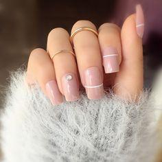 Simple Acrylic Nails, Square Acrylic Nails, Square Nails, Squoval Acrylic Nails, Nail Art Designs, Acrylic Nail Designs, Nails Design, Square Nail Designs, Neutral Nail Designs
