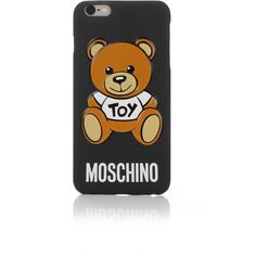 Moschino Teddy iPhone 6/6S Case (230 BRL) ❤ liked on Polyvore featuring accessories, tech accessories, phone cases and moschino