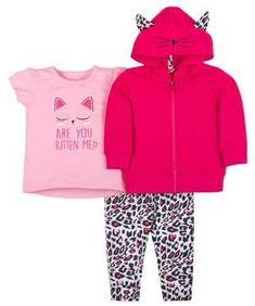 NEW Baby Girls 2pc Sweats Set 12 Mo Pink Princess Hoodie Sweatshirt Pants Outfit