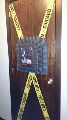 Decoration halloween door