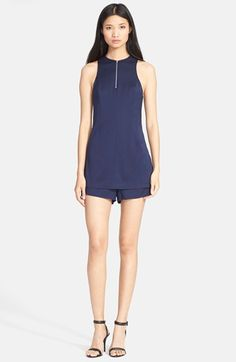 T by Alexander Wang Stretch Silk Twill Romper available at #Nordstrom