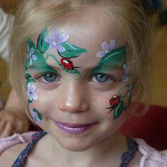 Ladybird face painting