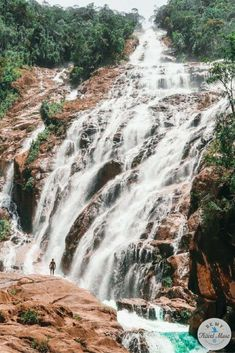 Tips for visiting Chemerung Falls, Malaysia's hidden waterfall. Located on Malaysia's eastern peninsula, Chemerung Falls is perfect for travelers looking to avoid the crowds and get off the beaten path. Travel in Southeast Asia. || Be My Travel Muse