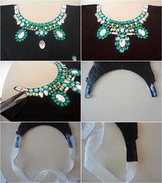 HACER cuello de diamantes de imitación Proyecto joyeria de bricolaje