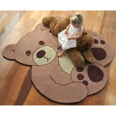 14 Best Teddy Bear Images On Pinterest Cute Bears Polar Skin Shape Wool Rug 2