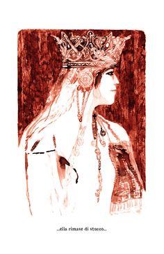Illustrazione di Giulia Maria Belli, tratta da ''La figlia della regina''