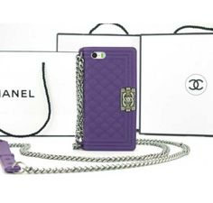Chanel Boy iPhone 5 iPhone 5S Case Purple - Free Shipping Luxury Cases