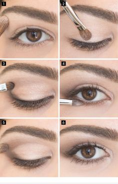 25 best eye makeup tutorials Your eye make-up says a lot about your style and when done, it can transform deeply. You do not have to be a make-up professional or a beauty guru to . MAKEUP FOR EYES Simple Eye Makeup, Eye Makeup Tips, Makeup Ideas, Makeup Tricks, Natural Eye Makeup Step By Step, Natural Makeup For Teens, Natural Everyday Makeup, Casual Eye Makeup, Everyday Makeup For School