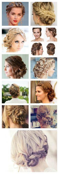 Wedding Hairstyle For Long Hair  : recogidos con trenzas para bodas