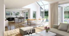 Kern-Haus Familienhaus Maxime Wohnzimmer