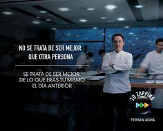 Ferran Adrià i Acosta es un cocinero español nacido el 14 de mayo de 1962 en L'Hospitalet de Llobregat. Él era el jefe de cocina del restaurante El Bulli en Roses, en la Costa Brava, y es considerado uno de los mejores chefs del mundo.