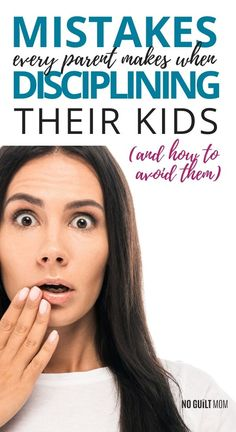 These are 3 common mistakes parents make when disciplining their kids that don't help but actually sabotage their efforts. Read here to figure out what they are, how you can stop doing them, and what to do instead! #positivediscipline #positiveparenting #disciplinemistakes #parentinggoals #raisingkids #noguiltmom via @noguiltmom Parenting Goals, Parenting Styles, Parenting Hacks, Toddler Discipline, Positive Discipline, Chores For Kids, Activities For Kids, Magic Secrets, Kids Behavior