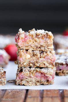 Strawberry Oatmeal Crumble Bars (Gluten Free  Vegan)Really nice  Mein Blog: Alles rund um Genuss & Geschmack  Kochen Backen Braten Vorspeisen Mains & Desserts!
