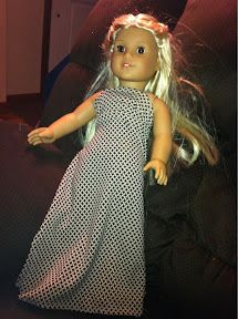 Upcycling clothes to make American girl doll clothes