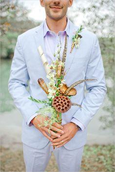 African Safari wedding bouquet