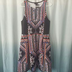 Mossimo Multicolored Scuba Zip Dress This is a fantastic dress for the summer season, I purchased it to wear to a wedding and ended up in another dress. Tags are still attached! Mossimo Dresses