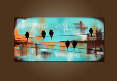 Hydro Lines - HUGE 36 x 18, Heavy Textured, ORIGINAL, Contemporary Abstract PAINTING Art on Etsy, Sold