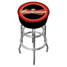 "Trademark Global Budweiser 31"" Swivel Bar Stool"