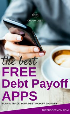 If you're ready to pay off debt, using an online tool to create a plan and track progress can be a huge help. Here are the best debt payoff apps that I could find for Android and IOS. #debt #howto #moneytips #finance #apps via @thebudgetmom