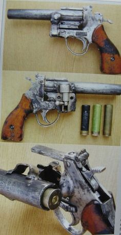 Gamow Panopticon, or weapon as a product of a crazy mind Izyat in the sixth year in Lugansk . Once it was samod. caliber revolver at least 9 mm, Weapons Guns, Airsoft Guns, Guns And Ammo, Revolver, Mad Max, Homemade Weapons, Tactical Equipment, Fallout New Vegas, Custom Guns